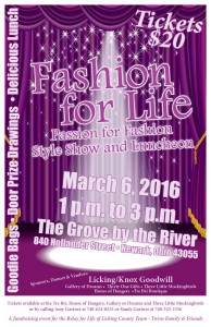 Relay Fashion Show Poster